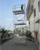 Échafaudage 10m en aluminium mobile approuvé de GV pour Repairment