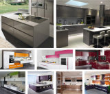 Cabina de cocina gris de la laca del color de los muebles de Hangzhou N&L