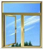 二重パネルのアルミニウム開き窓はハングしたWindowsの側面をアーチ形にした