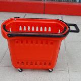 مغازة كبرى تقدم بلاستيكيّة تسوق مقبض سلّة