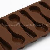 plateau de glaçon de moulage de chocolat des silicones 6-Spoon avec Si11 approuvé par le FDA