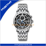 Reloj de múltiples funciones de los hombres del reloj del acero inoxidable del suizo 316L