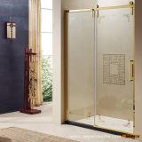 Muebles Flourishing de la cabina del sitio de ducha del vidrio de desplazamiento del cuarto de baño del estilo de la edad 2016 (OP35-L21RR)