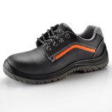 Zapatos de seguridad del cuero grabado para los trabajadores L-7199