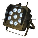 Draadloze LEIDENE DMX op batterijen Lichten 9X10W RGBWA 5 in-1