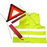 le jeu de la circulation 2-in-1, comprennent le gilet et la triangle d'avertissement de sûreté d'Élevé-Visibilité