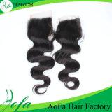 Prolonge 2016 desserrée non transformée neuve de cheveux humains de cheveu de Vierge d'onde de Guangzhou