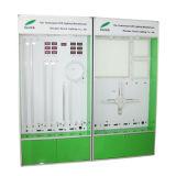 Gabinete do diodo emissor de luz da cor verde para o teste e a exibição da amostra