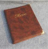 In het groot Highquality Leather Menu Cover voor Restaurant Bar of Hotel (Free die LOGO bronst)