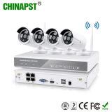 가장 새로운 1.3MP 탄알 IR 4CH 무선 NVR IP 사진기 WiFi CCTV 장비 (PST-WIPK04BL)
