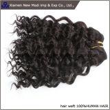 """16の""""長さの中国の人間の毛髪の巻き毛のWeft人間の毛髪"""