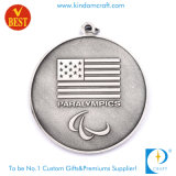 Kundenspezifische antike silberne Paralympic Medaille Sport USA-