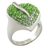 Anillo cristalino de la manera de los diamantes de Austria de la joyería