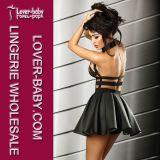 Выравнивающ сексуальных женщин клуба одетьйте черный цвет (L28038-2)