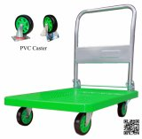 150kg Green Color Plastic Platform Foldable Hand Trolley