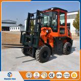 De Vorkheftruck van de Dieselmotor van China de Vorkheftruck van 3 Ton Al Ruwe Prijs van de Vorkheftruck van het Terrein