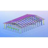 Kolumbien-Stahlrahmen-Hockey-Hall-Gebäude mit gehangenem Mezzanin