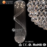 Hotel Crystal Chandelier Residential Lighting, lampada a soffitto, cristallo di luce a soffitto (OM711)