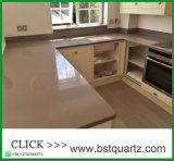 Bancada artificial da pedra de quartzo para a cozinha