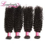 Волосы индейца девственницы 100% Unprocessed дешевые Kinky курчавые