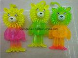 Sfera sfocata del giocattolo di plastica del bambino dei capretti con &Flash sano
