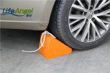 Cuneo di gomma durevole della rotella di colore nero e arancione