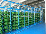 Herbe synthétique Wy-07 de jardin de son du gazon 4 d'article truqué de décoration d'horizontal