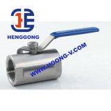 API/DIN Kogelklep van de Draad van het Roestvrij staal van de olie de Pneumatische