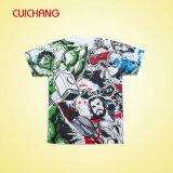 La sublimation folâtre des T-shirts avec la bonne qualité, T-shirt de Chaud-Vente fait sur commande de Crewneck