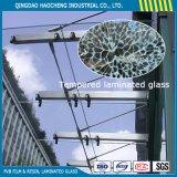 Densamente vidrio laminado templado 6.38m m con la película clara de PVB