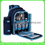 Sacchetti dello zaino di picnic per 4 con i sacchetti più freddi dello scompartimento