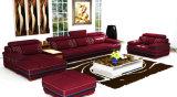 Qualität L Form-echtes Leder-Sofa für Hauptmöbel (957)