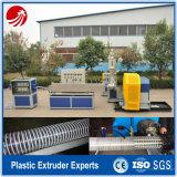 물결 모양 PVC 나선형 철강선 강화된 호스 압출기
