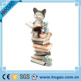 Figurine popolare del cane della resina della decorazione del giardino della resina