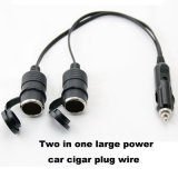 12V/24V 10A Two в One Car Cigarette Lighter Extension Wire с Waterproof Cap