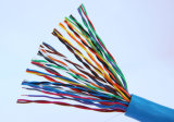 Fluoroplastic isolierte abgeschirmtes Kabel mit 24AWG