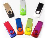 USB 기억 장치 (PZS012)가 플라스틱 회전대 USB 섬광 드라이브 펜 드라이브에 의하여, 자전한다