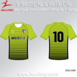 O poliéster Digital de Healong 100 Sublimated o jogo uniforme do futebol do futebol da tira