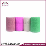 2016 Hot Sales Colorful Medical Sport Self-Adhesive Cohesive Bandage
