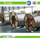 Низкое напряжение тока 26/7 185/30 алюминиевых проводников ACSR усиленное сталью