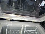 Étalage de congélation de poitrine en verre ouverte de porte de dessus pour la crême glacée