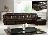 Sofà del Recliner della mobilia del cuoio del caffè nero (Y980)