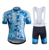 中国製ジャージーを循環させる価格の良質の循環の胸当ての短い/Shortの安い袖