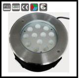 luz subacuática automática de la decoración de la fuente del color LED del cambio de 12W RGB
