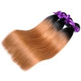 """Los manojos rectos del pelo humano del color 1b/30 el 100% de la armadura del pelo de las mujeres del pelo brasileño con el encierro liberan el envío 16 """""""