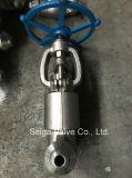 Vanne d'arrêt de soudure à haute pression en acier forgé
