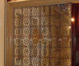 Le métal d'or décoratif d'acier inoxydable de couleur de Rose examine des diviseurs de pièce