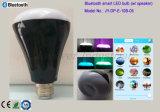 Apoyo Mobile App Smart Bulbo de iluminación inalámbrico con altavoz estéreo