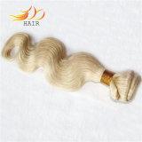 ボディ波のブラジルの人間の毛髪ライトブロンドの2音色の毛の織り方