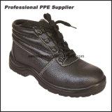 Zapatos de seguridad del tiempo de trabajo de la inyección de la PU del cuero genuino